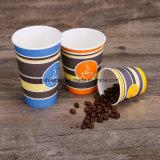Feiner heißer Kaffee-Papiercup der Qualitätseinzelner Wand-16oz