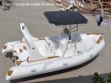 Fabricantes inflables rígidos de los barcos de la costilla del casco del barco de Liya el 19FT