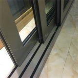 Design de luxo em alumínio resistente a porta corrediça com vidro temperado