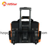 車輪が付いている頑丈な電気技術者の道具袋のトロリーロールバッグ