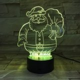 Il natale 3D LED illumina l'altoparlante di Bluetooth con l'altoparlante acrilico dei materiali
