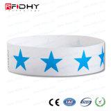 Matériau de Tyvek d'utilisation de bracelet d'IDENTIFICATION RF de manifestation sportive de roulis