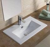 Loiça sanitária 75cm da borda fina retangular pia vaidade para casa de banho