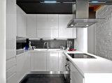 Het huis gebruikte de Hoge Glanzende Witte Keukenkast van de Lak