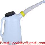 8 Liter Plastiköl-können messender Krug mit flexiblem Schlauch