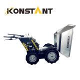 Mini carretilla hidráulica de la potencia de la gasolina del descargador de la granja del transportador