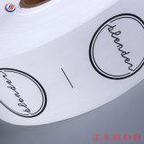 Cinta autoadhesiva de papel impreso personalizado de atención de lavado de ropa de etiqueta Etiqueta