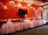 Tul Shimmer partido los rodillos de alimentación de la decoración de boda