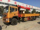 Dongfeng 6*4 LHD 10tonsローディングクレーンが付いているトラックによって取付けられるクレーントラック