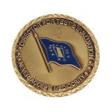 ダイカストで形造られた金によってめっきされるカスタムロゴの金属の硬貨亜鉛合金の硬貨