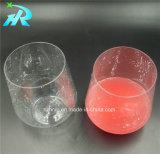 copo de café barato do cálice do vidro de vinho do animal de estimação 12oz