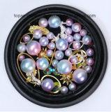 인어 기온변화도 진주 다채로운 모조 다이아몬드 결정은 구슬로 장식한다 3D 못 Sequins Paillette 매니큐어 DIY 못 예술 훈장 (ND-16)를