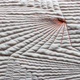 Colchón de telas de color naranja