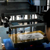 진공 시스템을%s 가진 탁상용 평상형 트레일러 스크린 인쇄 기계 기계