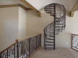 バルコニーのための電流を通された磨かれた終わりの縦の柵の錬鉄屋外階段手すり
