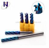 Alta performance carboneto sólido 4 flautas Final Mills para corte de metais a partir da fábrica