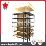 Alta qualidade de madeira e prateleira de indicador do metal