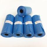 Blau-Farbe HDPE Haustier-Abfallpoop-Beutel auf Rolle, Hundeprodukt