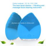 Los fabricantes de portátiles de cepillo de limpieza facial masaje suave limpiador de la cara de silicona