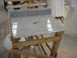 Parte superior de mármore de pedra natural da cozinha do granito