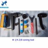 Nécessaire de /Threading de trousse à outils de conage avec le point de droit pour 1/4, 3/8, 9/16 tube à haute pression