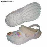 Insoel Linning Fur를 가진 파란 Kids Winter Clogs Shoes