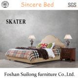 현대 최고 미국식 직물 침대 가죽 침대 침실 침대