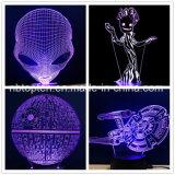 スターウォーズのアクリルの接触3D錯覚夜ライト