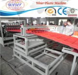 Feuille ondulée de fibre de tuiles de toit de PVC de composé d'animal familier faisant la machine
