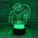 O diodo emissor de luz do Natal 3D ilumina o altofalante de Bluetooth com o altofalante acrílico dos materiais