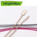 아연 합금 USB 데이터 케이블 생선 비늘 직물 디자인 땋는 USB 데이터 케이블