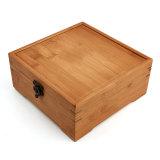 Casa nueva caja de almacenamiento de bambú caja de embalaje de madera natural