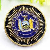 昇進の安いカスタム金属の挑戦宗教記念品の金によってめっきされる硬貨