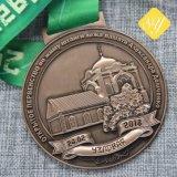 L'abitudine reale del metallo della moneta di rugby di rettangolo all'ingrosso mette in mostra le medaglie