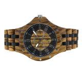 Polshorloge 100% van de Mensen van de manier Natuurlijk Gestreept Houten Horloge