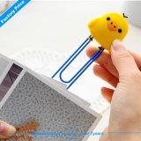 Clips de goma modificados para requisitos particulares baratos de la marca de libro del PVC con cualquie diseño de la insignia para la promoción/hacer publicidad (XF-BM10-)