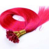 U extensões de Ponta Reta Red Remy Extensão de cabelos humanos brasileiros
