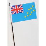 Polyester de petits drapeaux nationaux tenue en main tous les pays (YH-HF030)