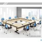 Melemine Type Foladable Desk for Training Room with Removable Bases