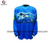 Новые изготовленный на заказ дешевые трикотажные изделия рыболовства турнира сублимации удя рубашки оптом