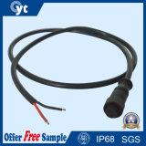 Аттестованные мужчина и разъём-розетка кабеля с черной пропиткой Pin M14 2 для освещения СИД