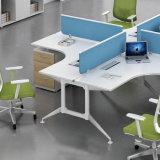 Mezclar el sitio de trabajo modular de la oficina de ventas de la tapa de los muebles de oficinas en diseño cruzado