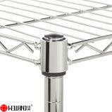 As 4 séries ajustáveis iluminam a prateleira da cremalheira de fio do armazenamento da cozinha do aço de cromo do dever