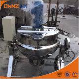 Chaleira Jacketed elétrica do aquecimento de vapor do aço inoxidável que inclina cozinhando a chaleira com agitador
