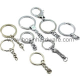 Tornillo de acero niquelado Lock Key Ring