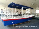 Coques de barge de travail de fibre de verre de bateaux de Panga de Liya 19feet à vendre