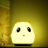 Venta caliente8los colores de los animales de la noche de silicona LED Lámpara de mesa de luz para bebés