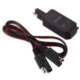 Motocicleta SAE a USB Cable adaptador USB doble puerto de alimentación LED del cargador de voltímetro