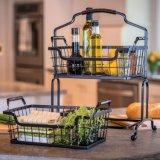 Корзина кухни хвостовика руки с Combinable корзиной металла