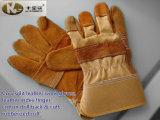 Kuh-aufgeteiltes Leder-Arbeits-Handschuhe mit dem ledernen Zeigefinger